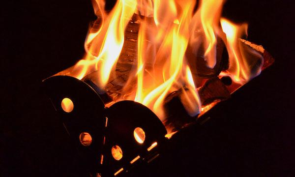 焚火の様子